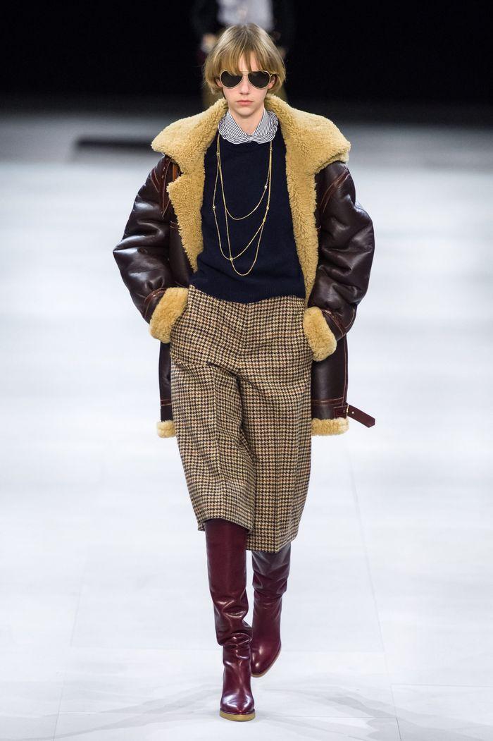 Модная одежда осень-зима 2019-2020 Celine