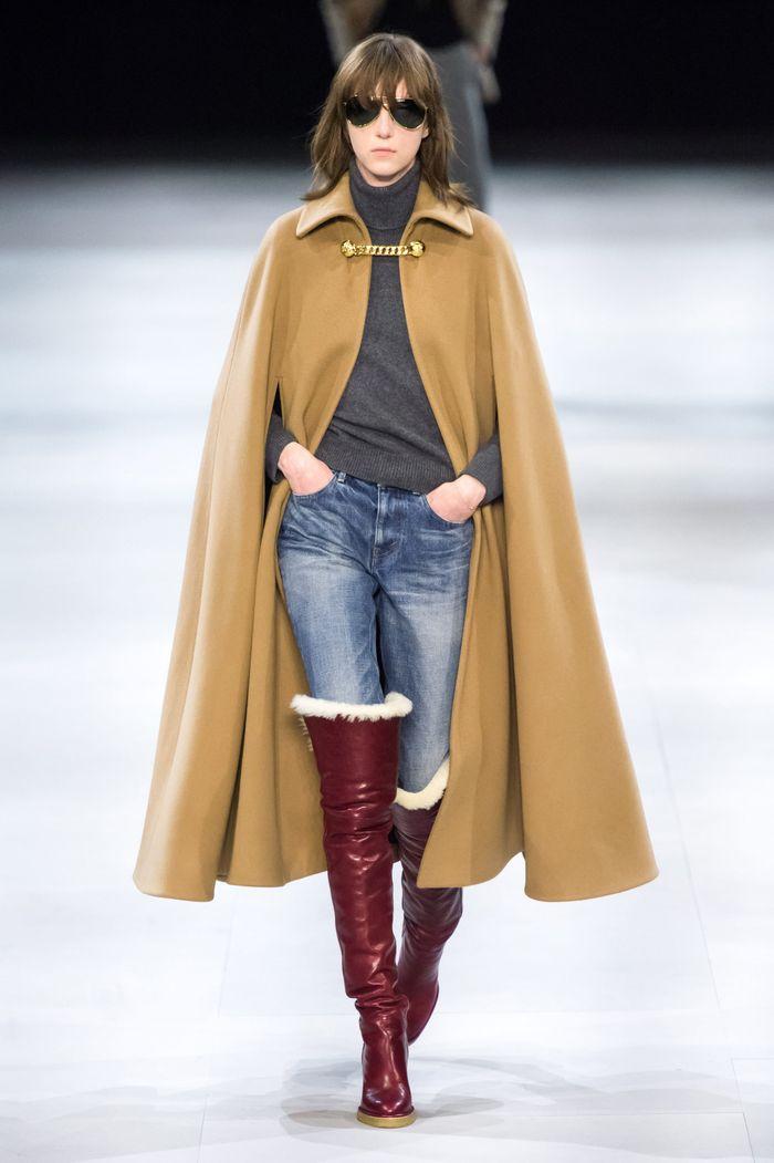 Модное пальто кейп осень-зима 2019-2020 из коллекции Celine