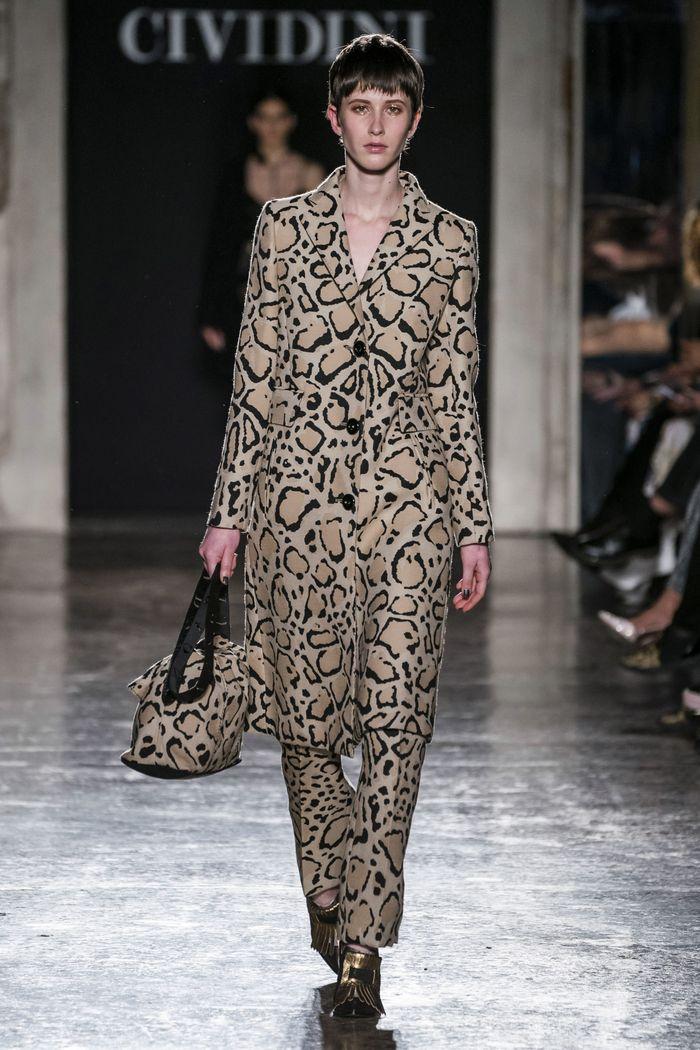 Модное леопардовое пальто осень-зима 2019-2020 из коллекции Cividini