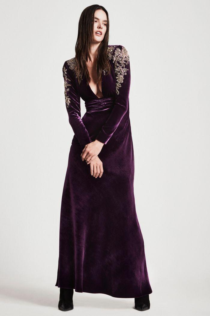 Модное бархатное платье осень-зима Dundas