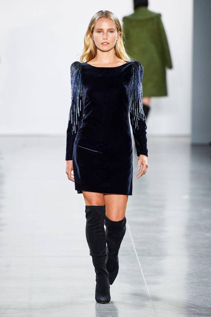 Модное бархатное платье осень-зима Elie Tahari