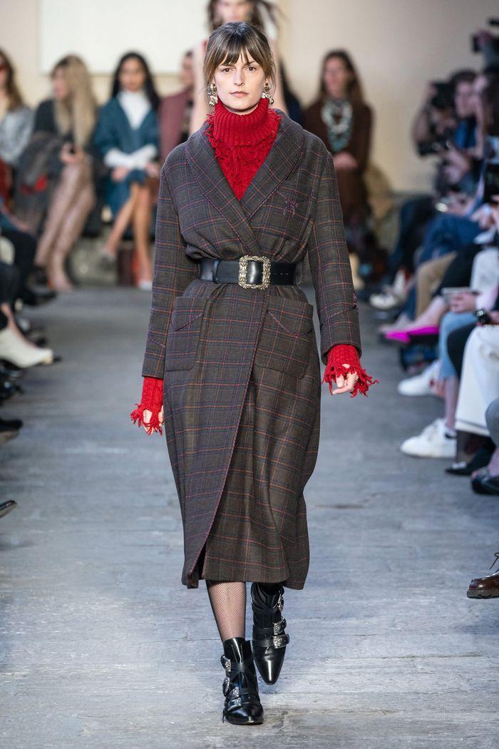 Модное пальто с поясом осень-зима 2019-2020 из коллекции Etro