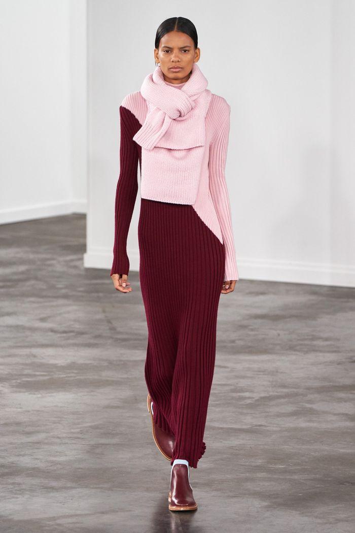 Розово-бордовое платье Gabriela Hearst