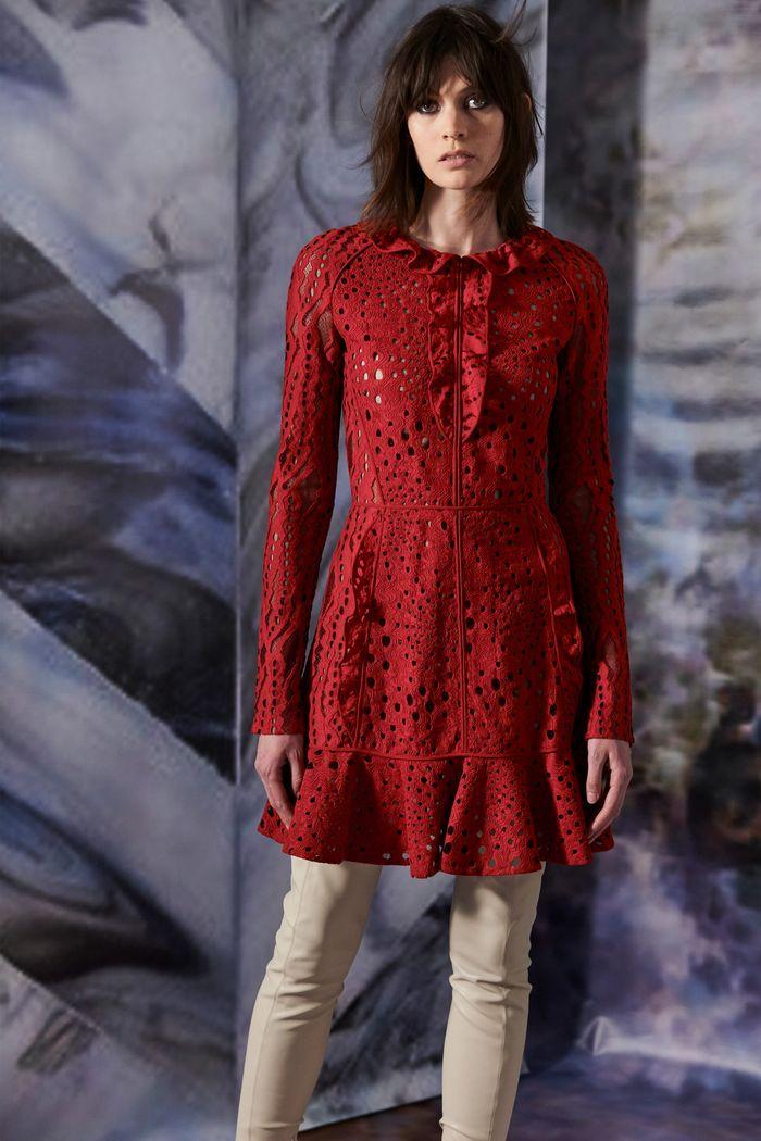 Бордовое замшевое платье J. Mendel