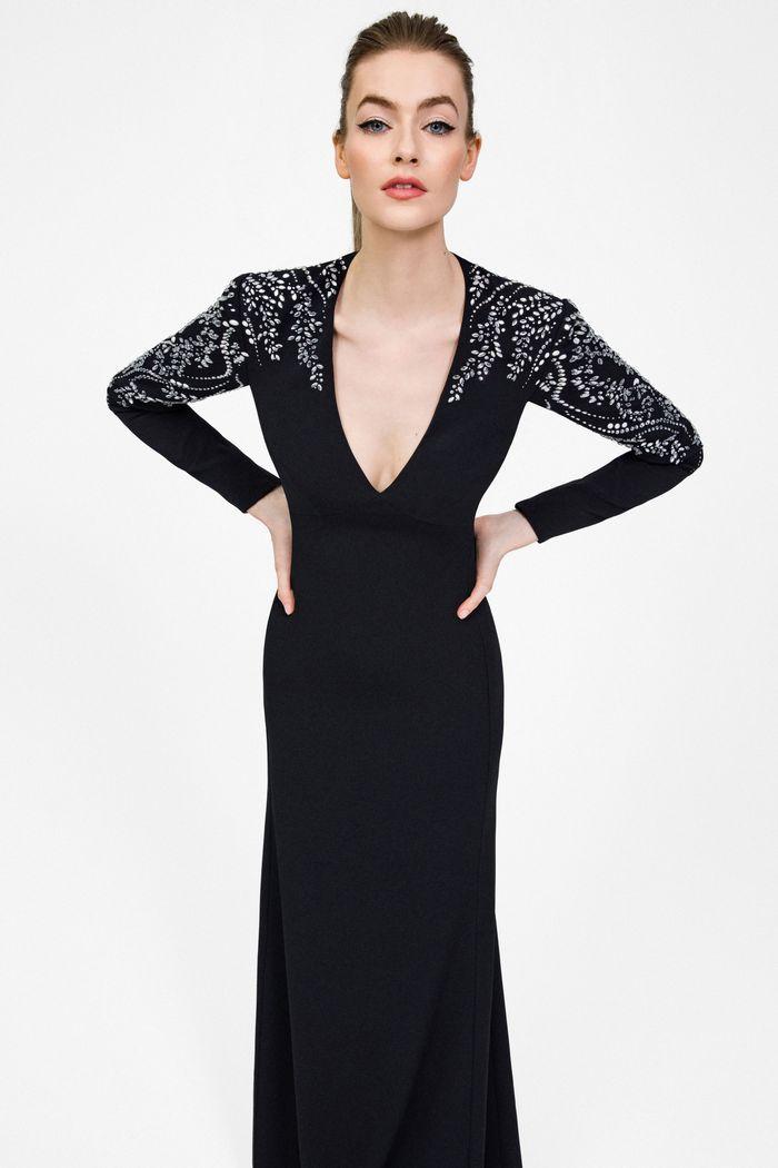 Вечернее платье с глубоким декольте Jenny Packham