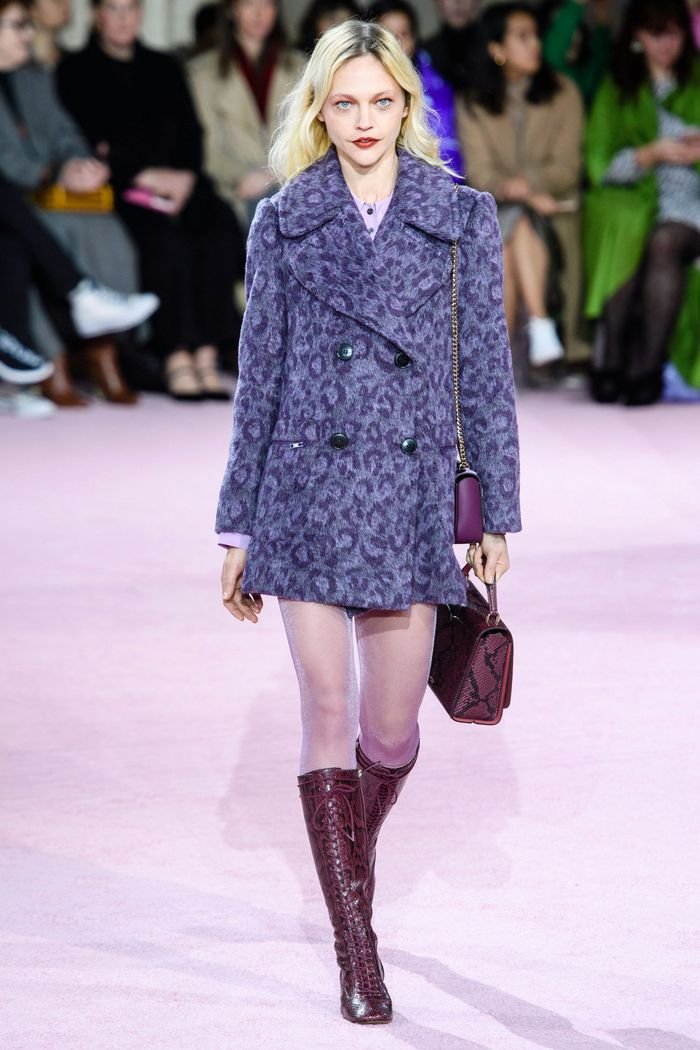 Модное леопардовое пальто осень-зима 2019-2020 из коллекции Kate Spade