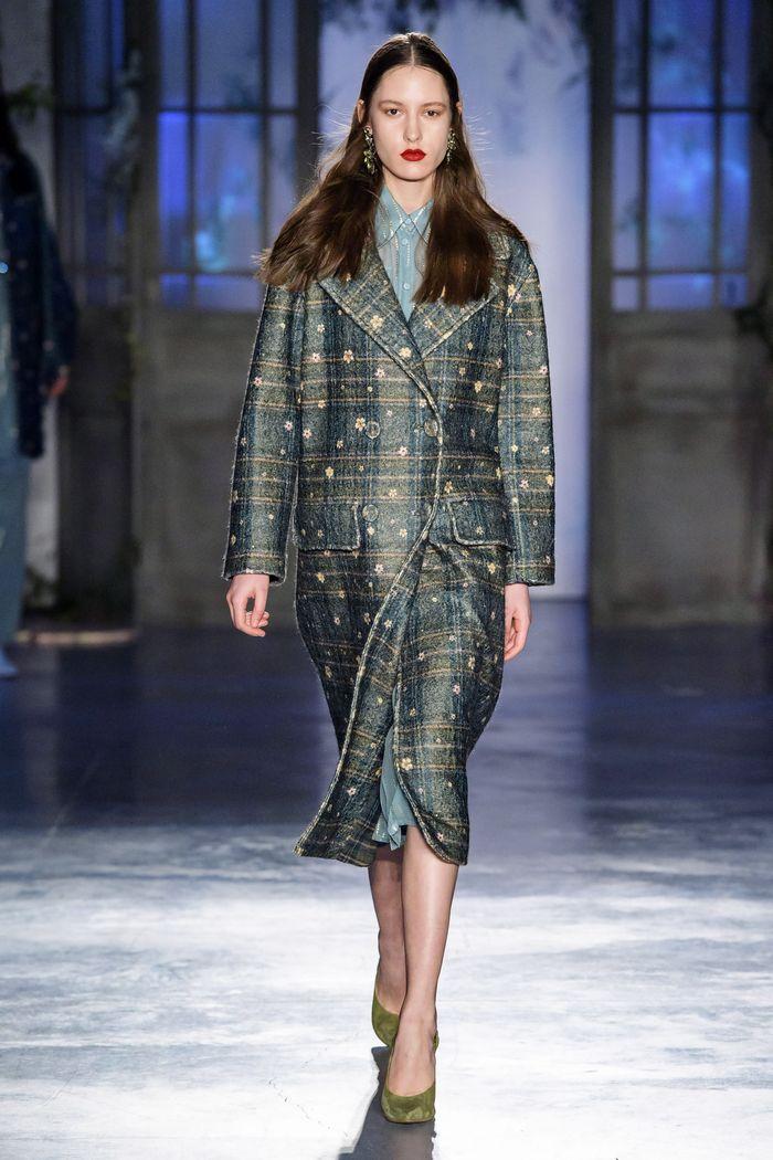 Модное пальто в клетку осень-зима 2019-2020 из коллекции Luisa Beccaria
