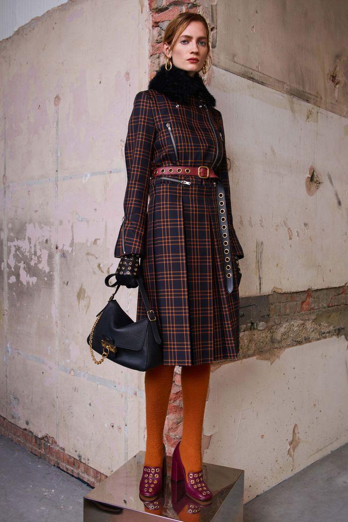 С чем носить пальто осенью Mulberry