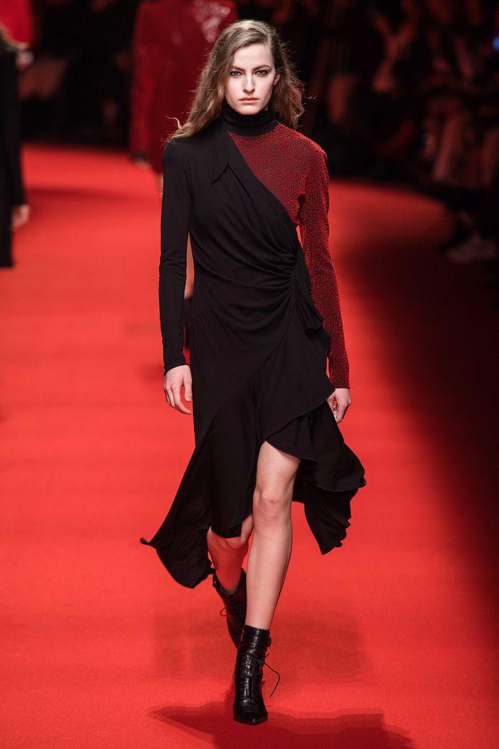Черно-бордовое платье Philosophy di Lorenzo Serafini