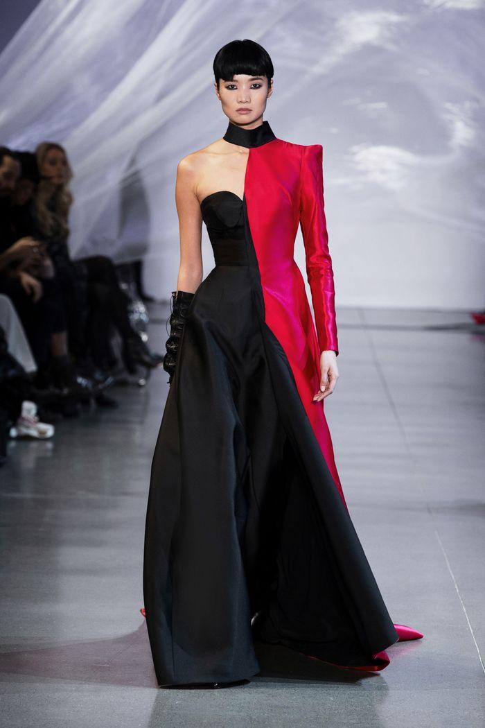 Черно-бордовое платье Phuong My