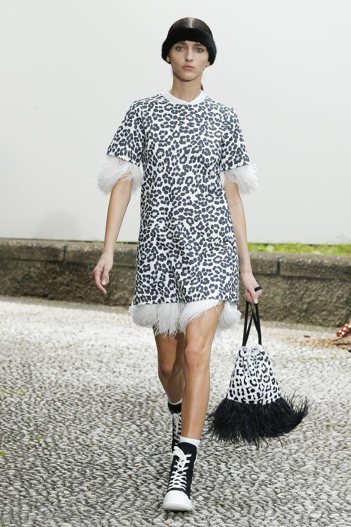 Модное черно-белое платье Simonetta Ravizza