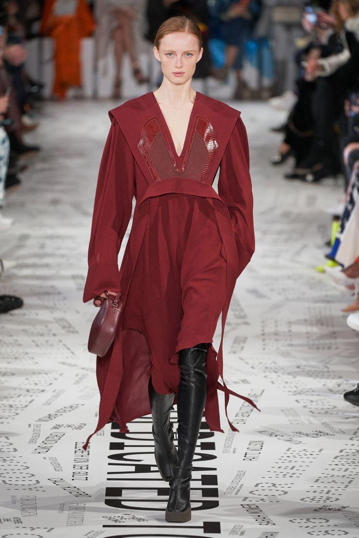 Модные цвета платьев осень-зима 2019-2020. Коллекция Stella McCartney