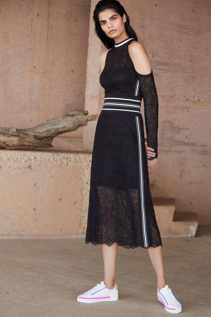 Черно-белое платье Tadashi Shoji