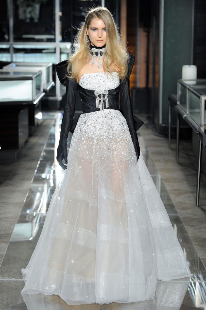 Черно-белое платье - актуальные новинки 2019