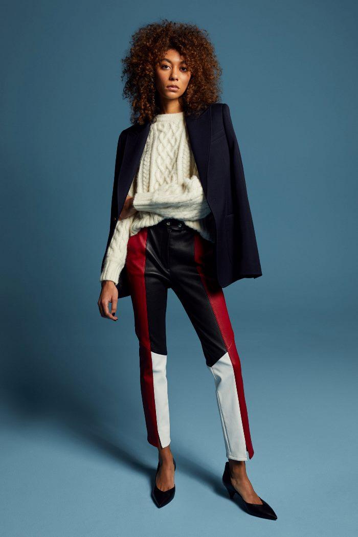 С чем носить кожаные брюки осенью A.L.C.