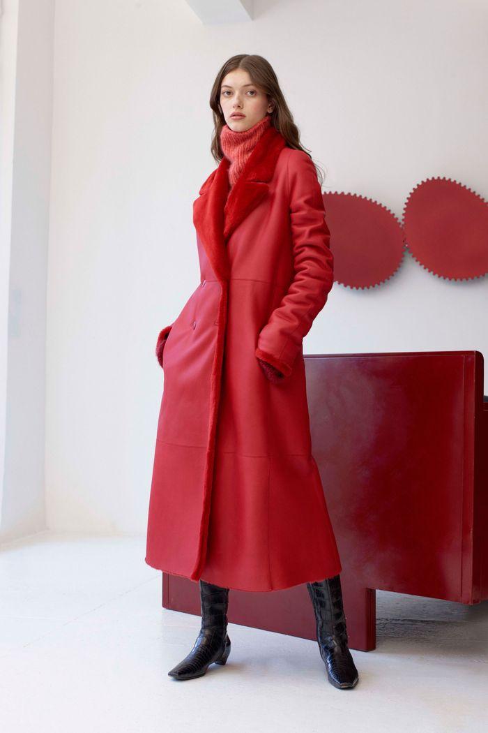 Модные кожаные дубленки Alejandra Alonso Rojas