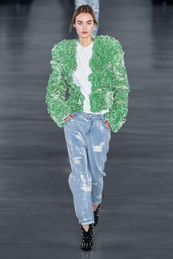 Модные джинсы осень-зима 2019-2020 из коллекции Balmain