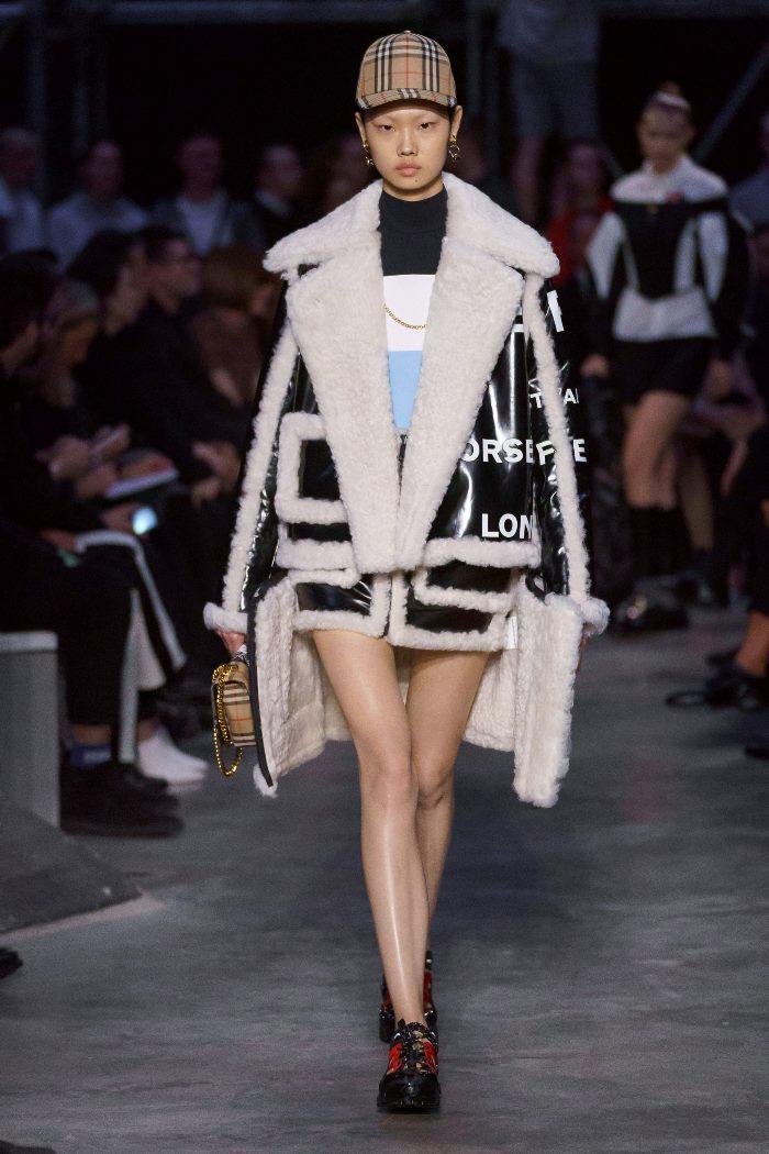 Модные дубленки Burberry