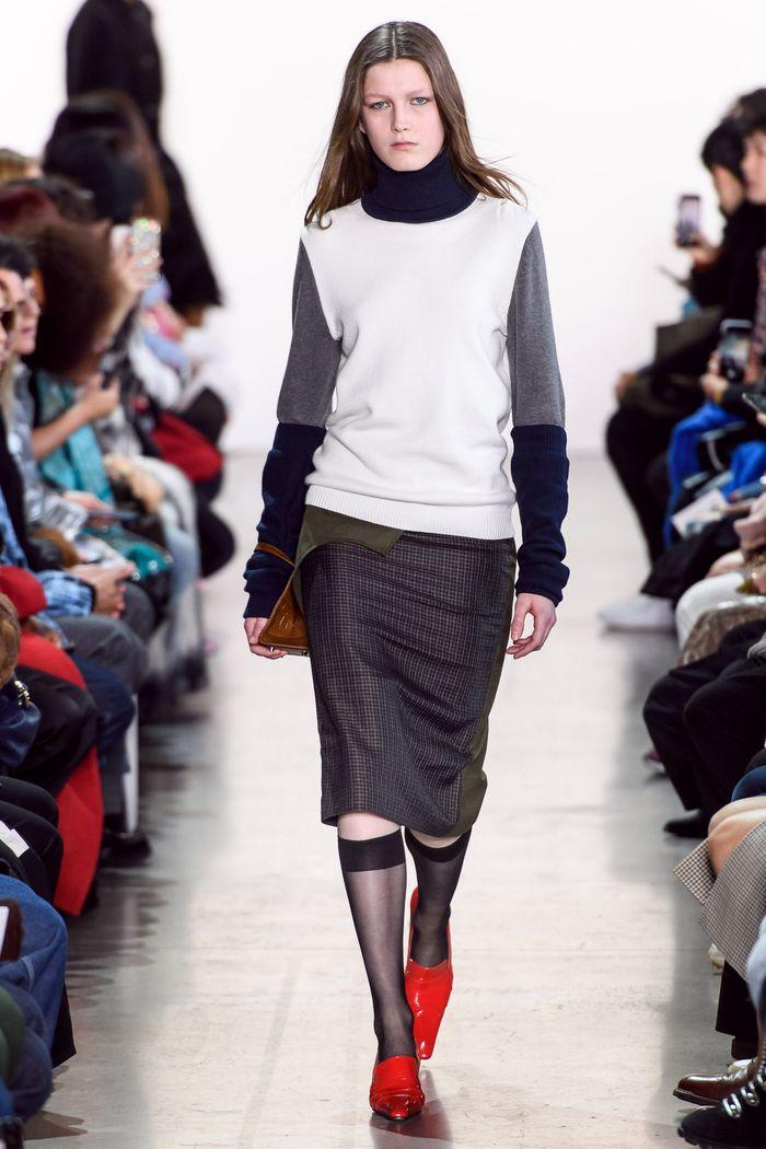 Модная юбка осень-зима 2019-2020 Calvin Luo