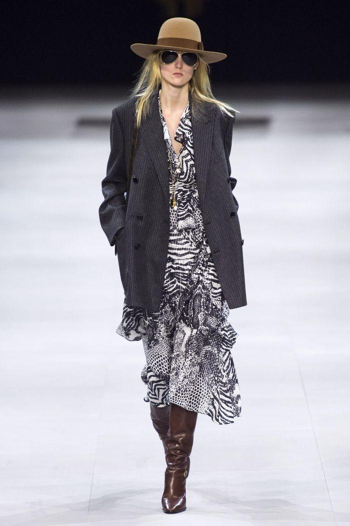Модный удлиненный пиджак из коллекции осень-зима Celine