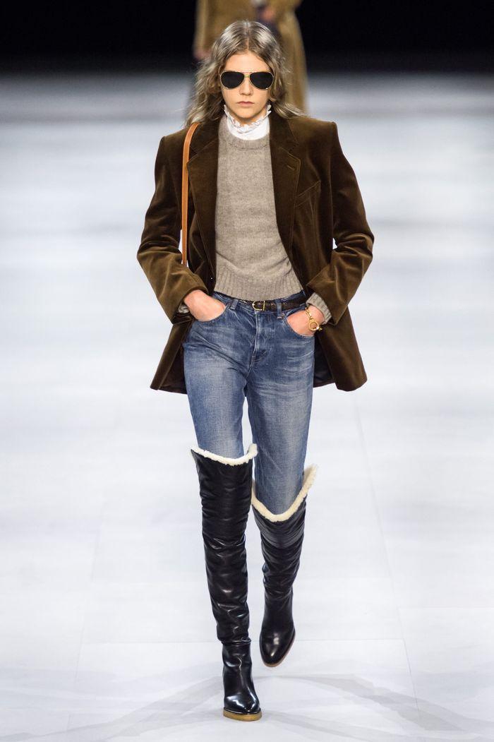 Модные джинсы осень-зима 2019-2020 из коллекции Celine