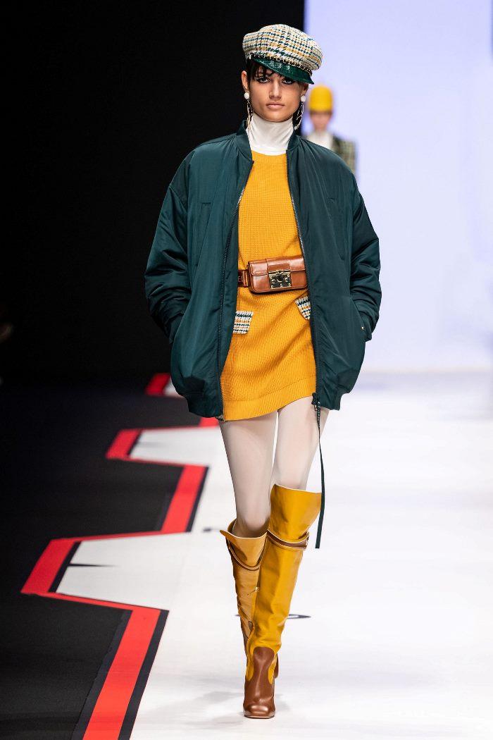 Модная куртка осень-зима 2019-2020 из коллекции Elisabetta Franchi
