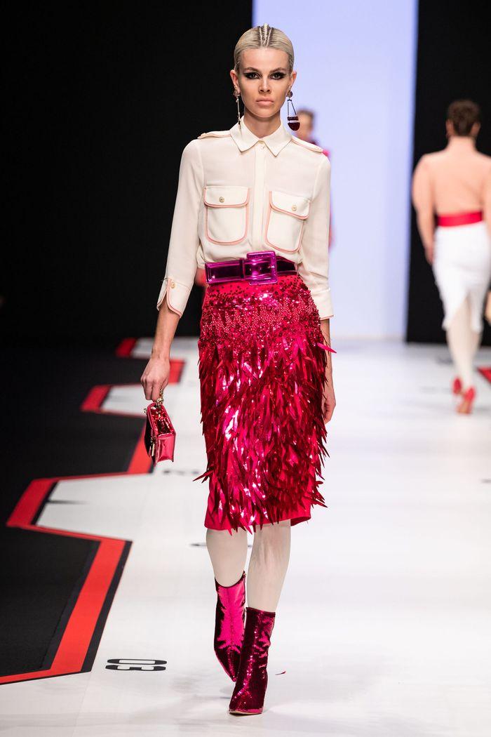Модная юбка с паетками осень-зима 2019-2020 Elisabetta Franchi