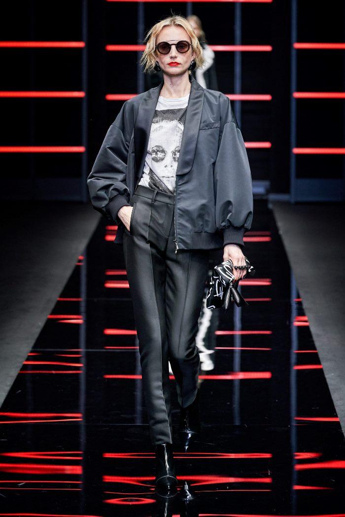 Модная куртка осень-зима 2019-2020 из коллекции Emporio Armani