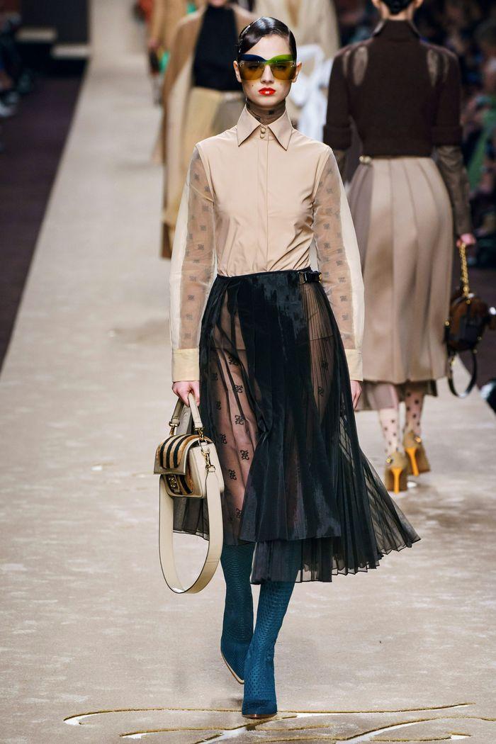 Модные юбки осень-зима 2019-2020 Fendi