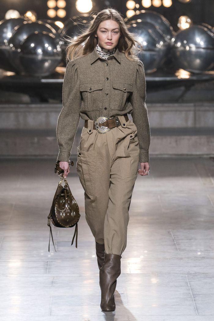 Модные брюки с завышенной талией осень-зима 2019-2020 из новой коллекции Isabel Marant