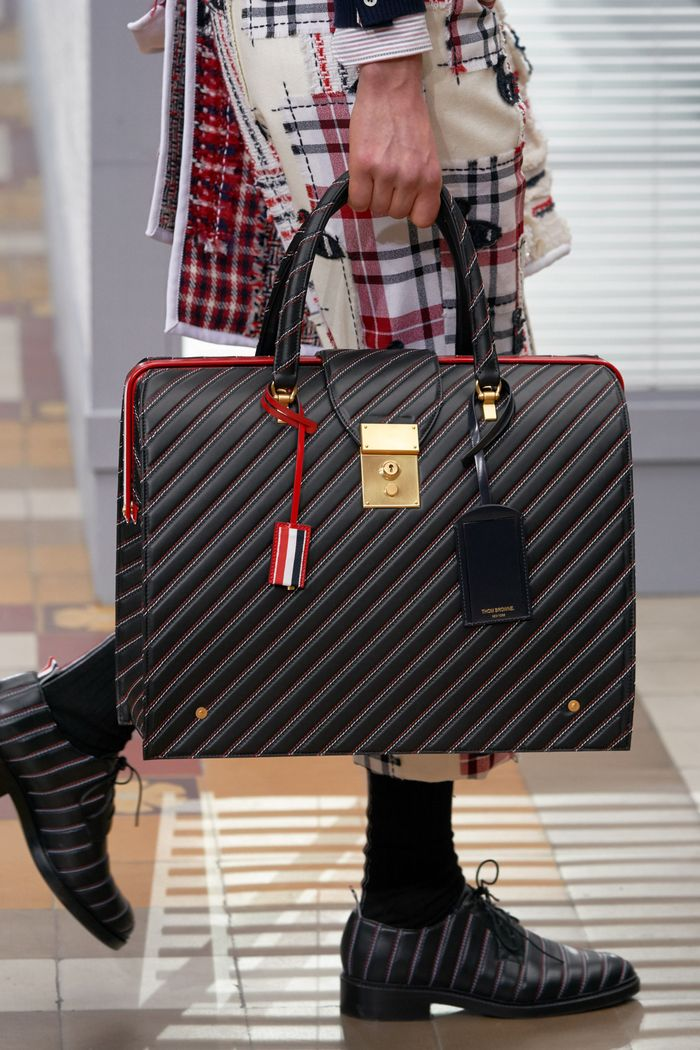 Классическая сумка тоут Thom Browne