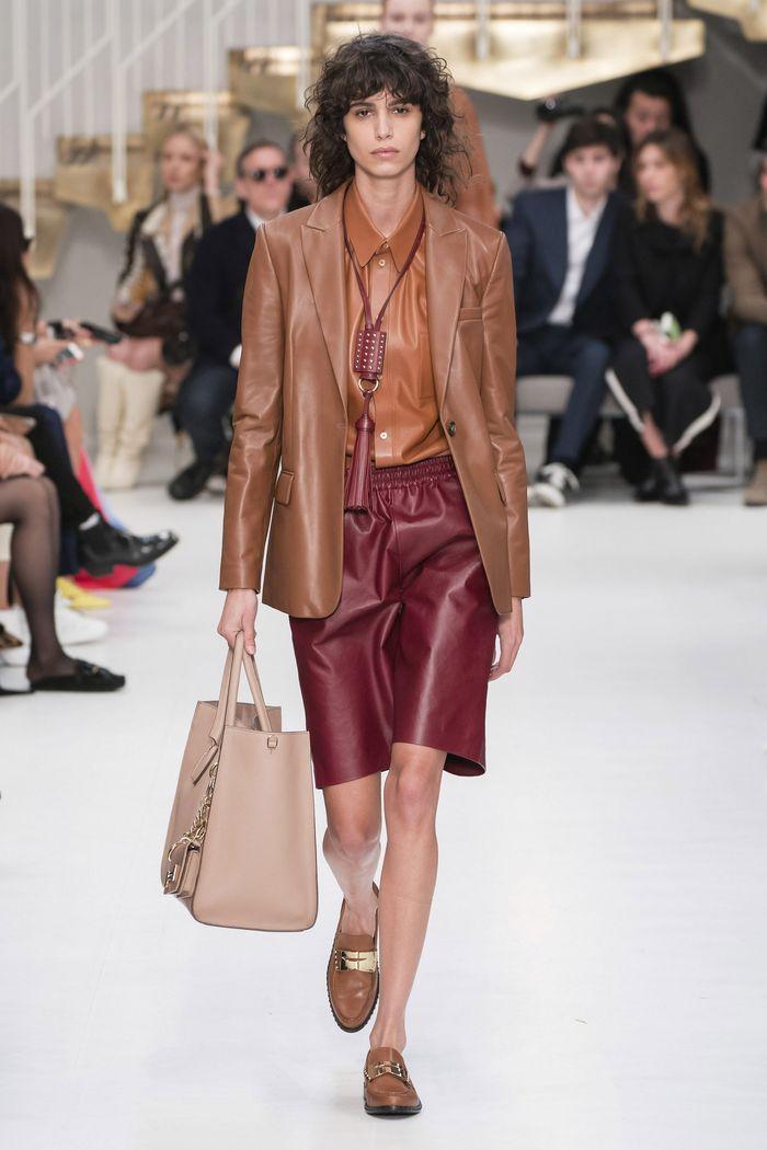 Модный кожаный пиджак из коллекции осень-зима Tods