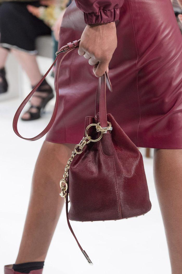 Модная бордовая сумка из коллекции Tod's