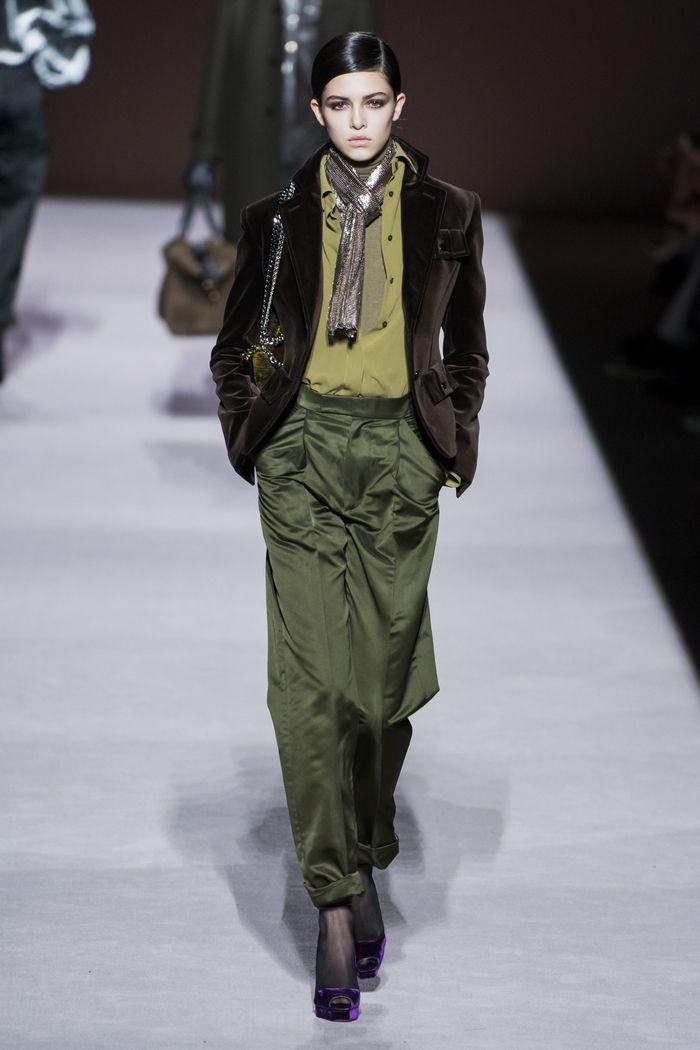 Модный вельветовый пиджак из коллекции осень-зима Tom Ford