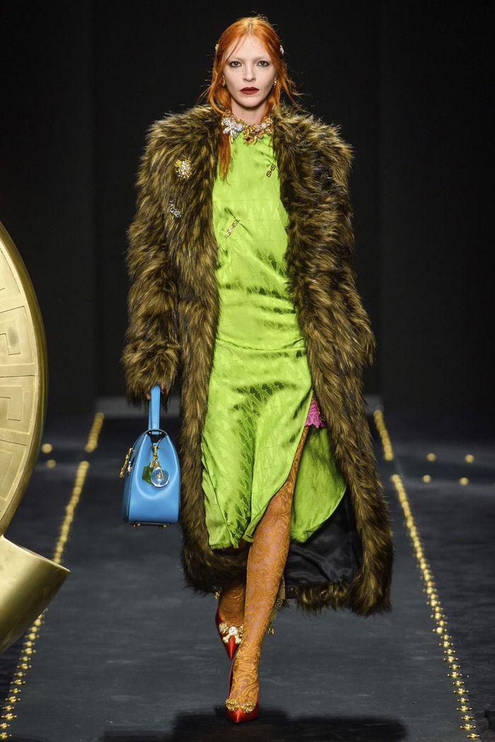 Модная шубы Versace