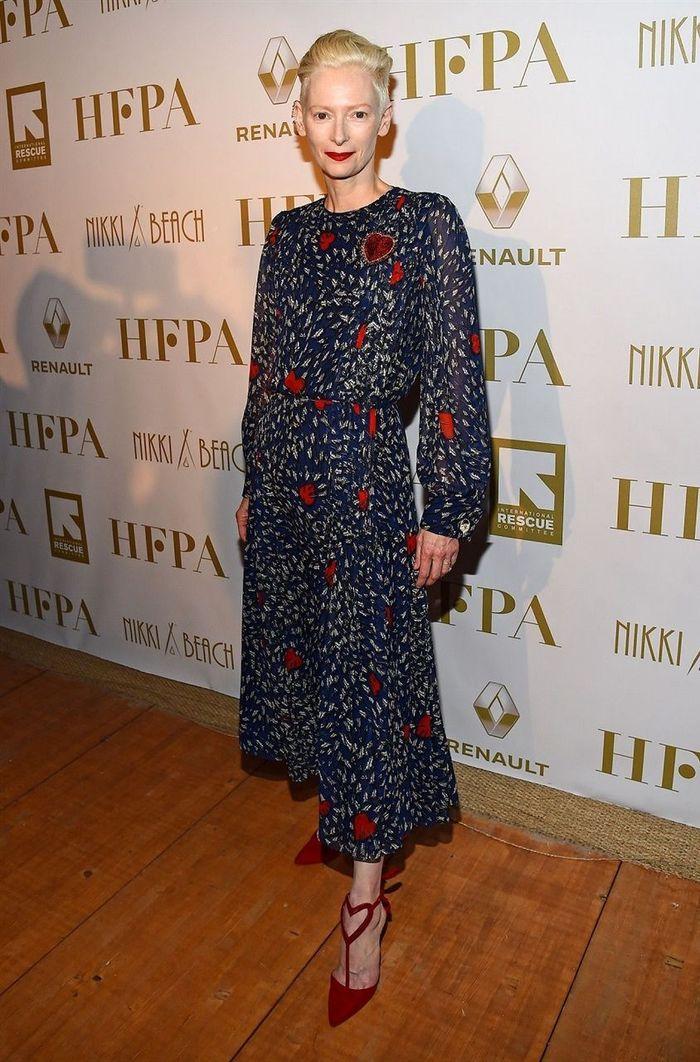 Образы Тильды Суинтон в платье