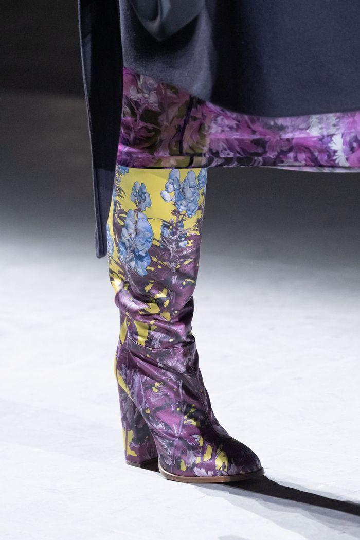Модные сапоги с принтом осень-зима из коллекции Dries Van Noten