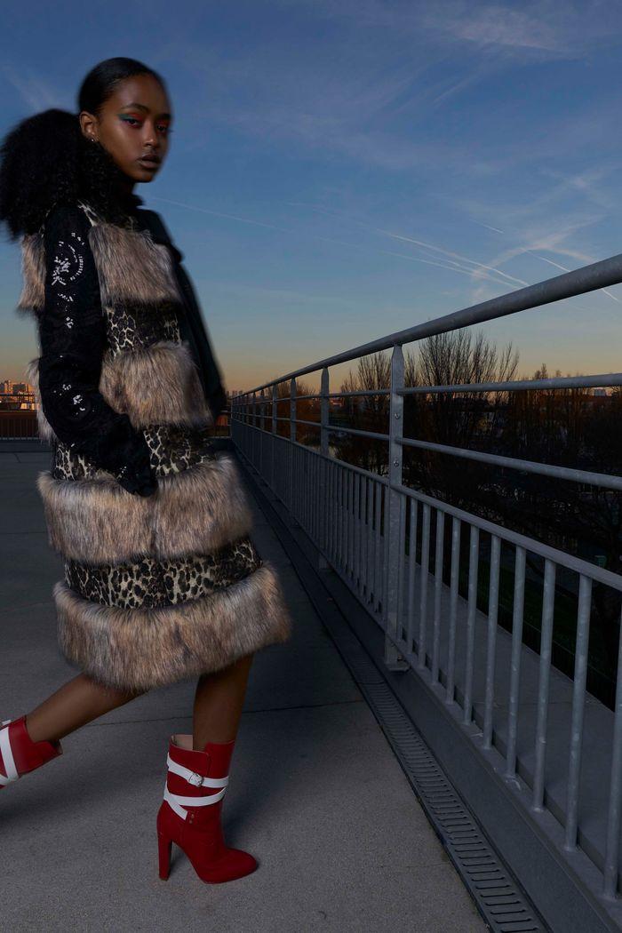 Модные красные сапоги осень-зима из коллекции Giamba