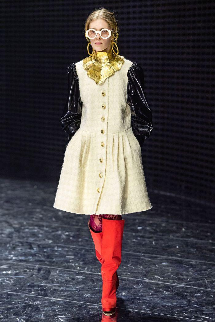 Модные красные сапоги осень-зима из коллекции Gucci