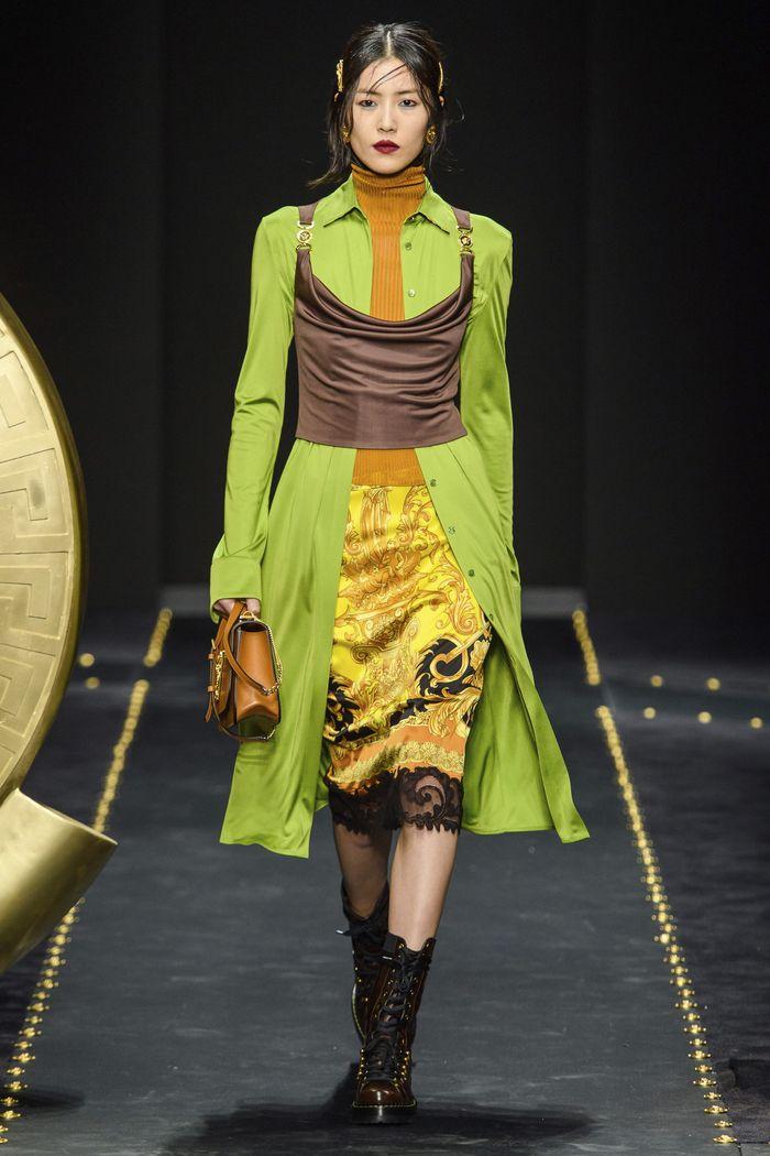 С чем носить длинную рубашку. Образ из коллекции Versace