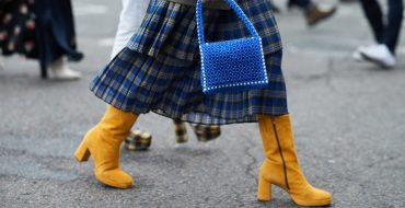 Модная синяя юбка