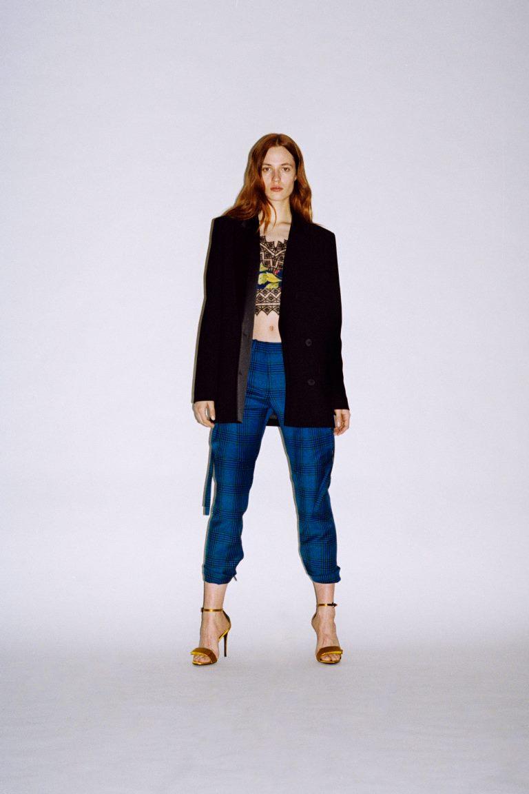 Модные укороченные брюки в клетку Barbara Bui