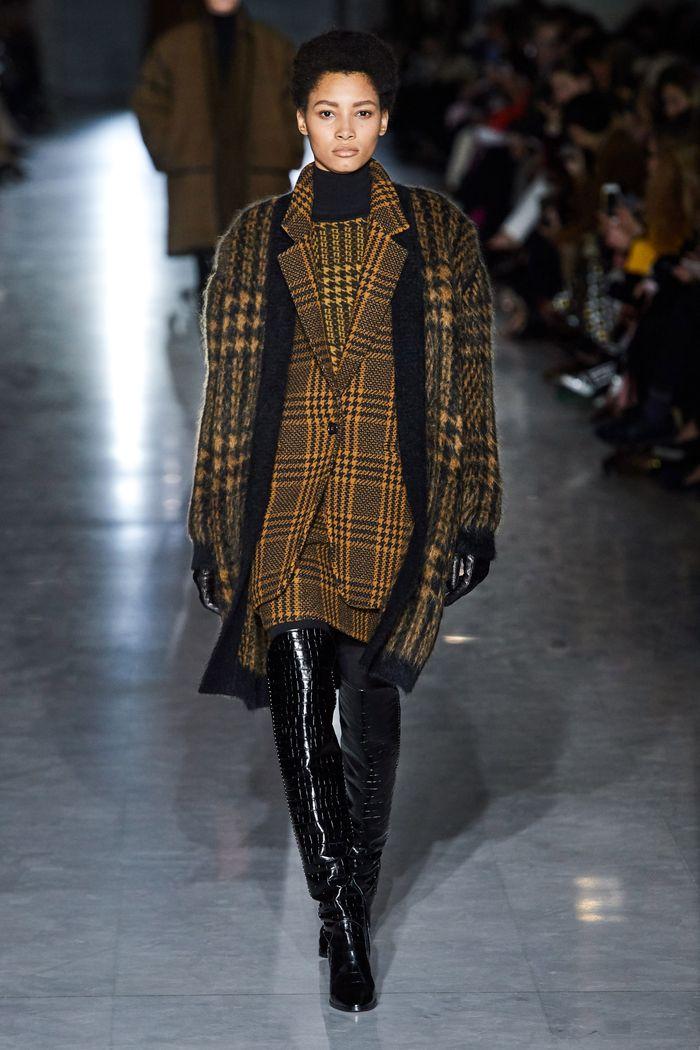 Модный коричневый пиджак в клетку Max Mara