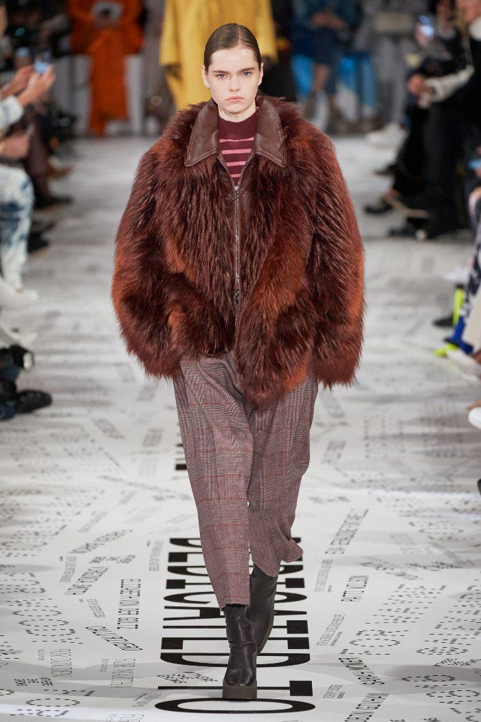 Модные укороченные брюки в клетку Stella McCartney