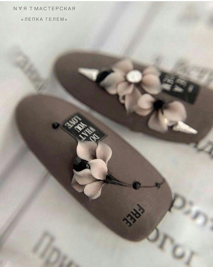Новинки дизайна ногтей - комбинированный маникюр