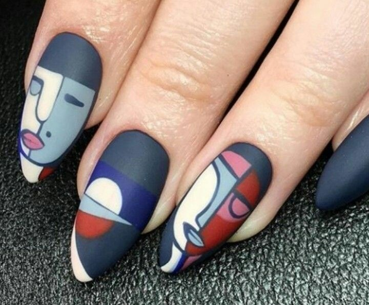 Дизайн ногтей в стиле кубизм