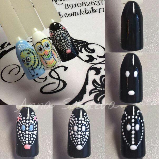 Дизайн ногтей с точками дотсом