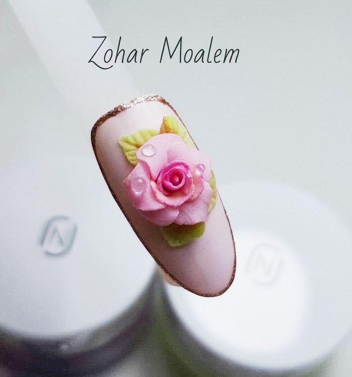 Дизайн ногтей с объемной лепкой