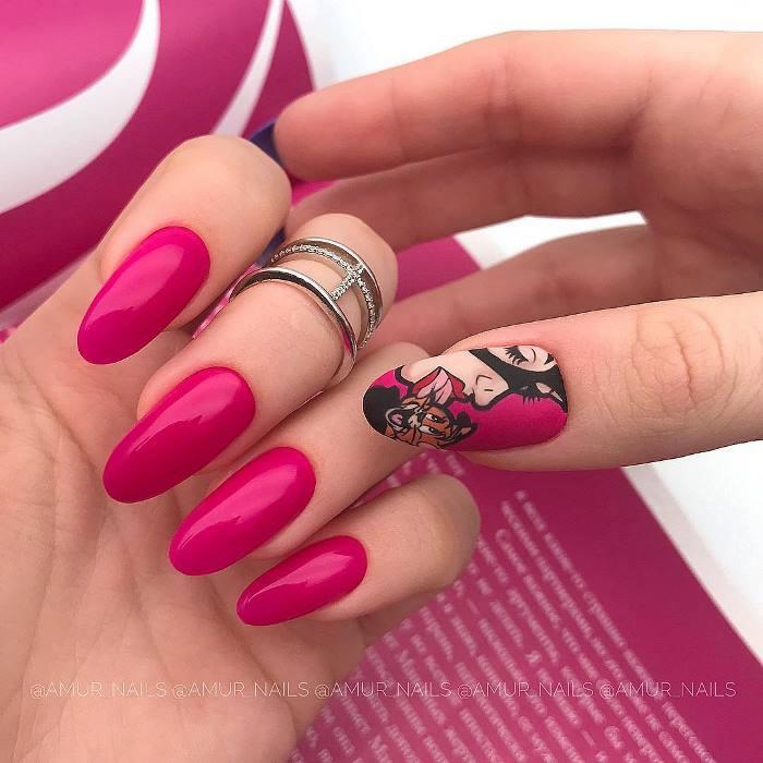 Pop-art дизайн ногтей