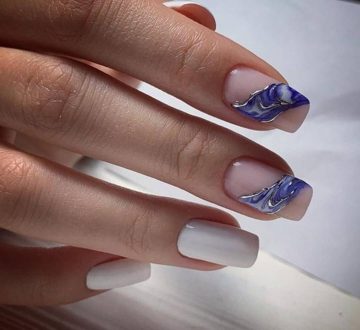 Дизайн ногтей с текстурой